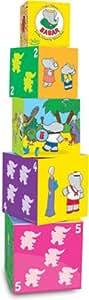 Vilac - 2194 - Jeu de construction - 5 Cubes Gigogne en Bois - Babar