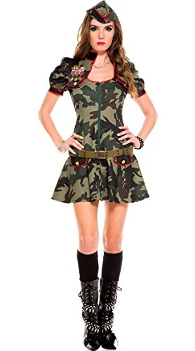 SAMGU Frauen Sexy Tarnung Soldat Militär Kostüm Kommando Anzug Cosplay ()