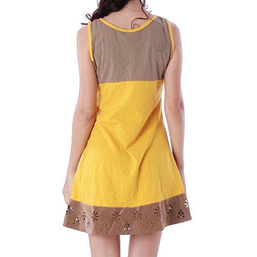 Panasiam Kleid, farbenfrohe Tunika, aus Baumwolle, in S, M, L und XL, kleine Auflage 2017 (Boutiqueware) ! Coffee