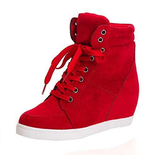 Botas Plano de Mujer con Cordones, QinMM Botines Zapatos clásicos de Martain de Invierno de otoño...