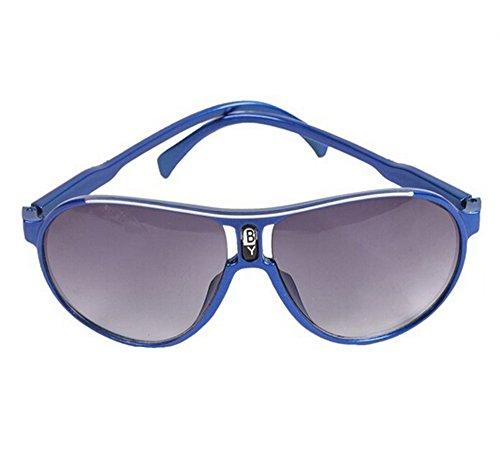 EJY Candy Colors Children Boys Girls Kids Sunglasses Child Goggles Eyeglass (royalblue)