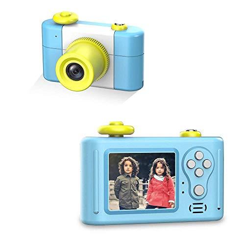 Digitalkamera für Kinder, HD 1080P 1,5-Zoll-Bildschirm Kinderkamera mit wiederaufladbarem Fotorahmen-Mikrofon für Kinder-Videokamera(Blau)