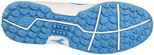 Diadora 650 Iii Tf, pour les Chaussures de Formation de Football Homme Blanc Cassé (Bianco/blu Fluo)