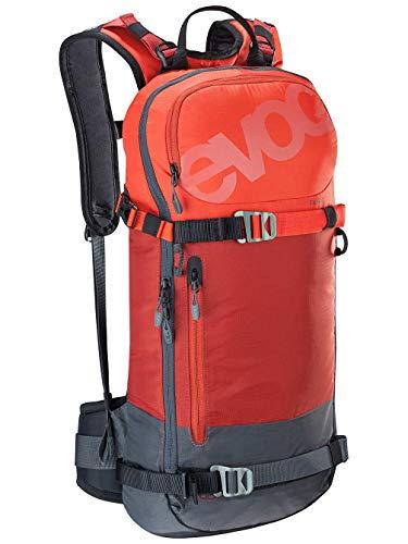 EVOC Sports GmbH FR Day 16l, Protector Rucksack, Chili red/Carbon Grey, M/L (Freeride Carbon Ski)