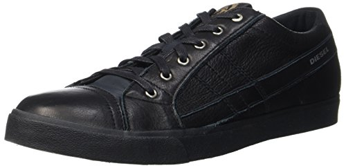 Diesel d-velows d-string low, sneaker uomo, nero (black t8013), 45 eu