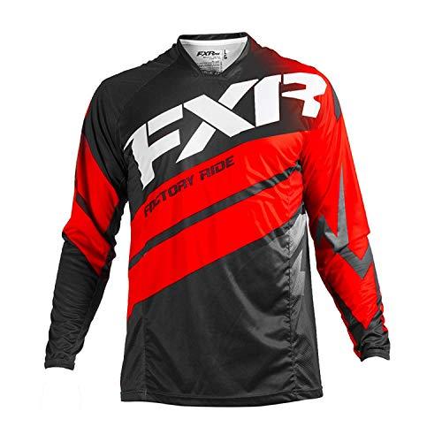 FXR Racing Mission 18 Herren MX Motocross Gelände Jersey - Schwarz/Rot/Weiß - Schwarz, Rot, Weiß, M Fxr Racing