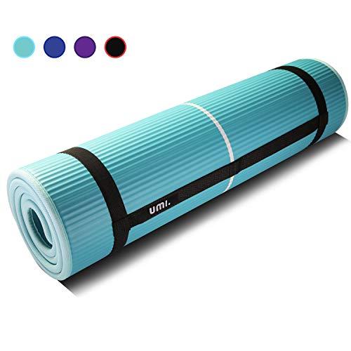 Umi. Essentials Fitnessmatte Sportmatte Rutschfest Extra-Dick Yogamatte NBR Pilates Mat mit Tragegurt für Yoga Pilates Fitness Gymnastik Training 10mm (Grün)