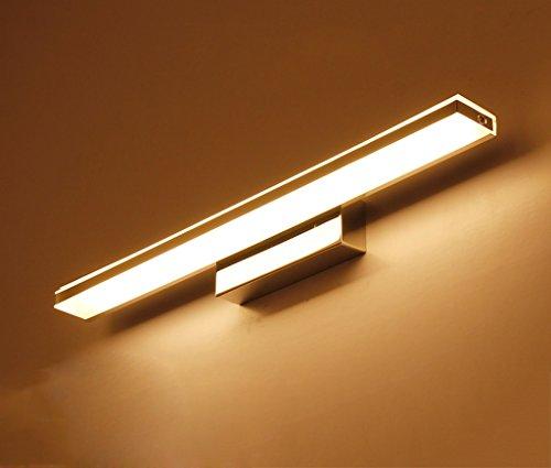 WYDM Spiegel Frontleuchte Moderne LED Wasserdicht Anti-fogging Badezimmer Badezimmerspiegel Wandleuchte Spiegel Kabinett Lampe Led-Licht (Color : Warm light-62cm) - Lichtbalken Badezimmer Für