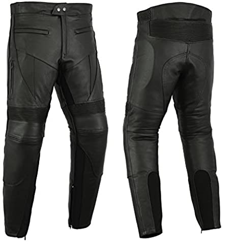 CE Armoured Cowhide Leather Motorcycle / Motorbike Cruiser Trousers / Leathers - All Sizes