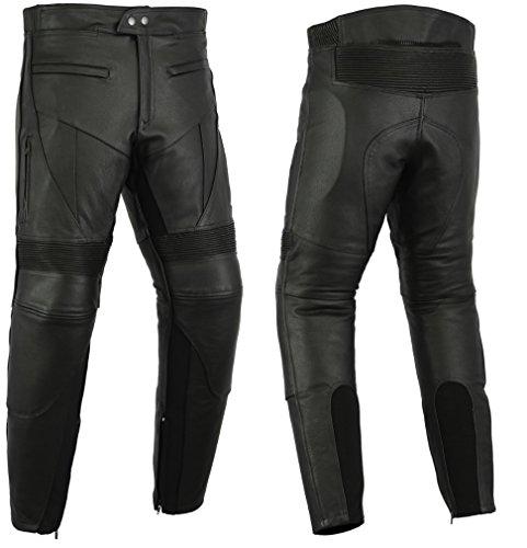 *Turin-Motorcycle-Wear – Motorradhose mit Protektoren – Rindsleder – W42 L34*