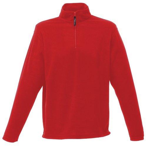 Regatta - Herren 170 Serie Reißverschluss Ausschnitt Micro Fleece Jacke - S, Classic Rot (Classic-serie-jacke)