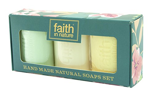 hand-made-natural-soaps-gift-pack-by-faith-in-nature-plus-inspirational-fridge-magnet