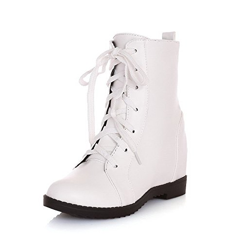 voguezone009-womens-lace-up-kitten-heels-pu-solid-low-top-boots-white-37