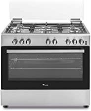 Veneto 90 X 60 cm 5 Gas Burners, Free standing Gas cooker, Stainless Steel - C3X96G5VC.VN, 1 Year Warranty