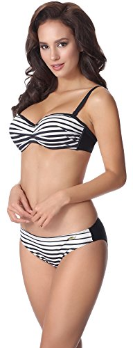 aQuarilla Damen Bikini Set AQ135 Schwarz/Weiß