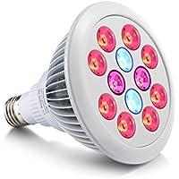 Supremery impianto lampadina E27 24W LED coltiva la luce per piante da appartamento, fiori e ortaggi [Classe energetica A]