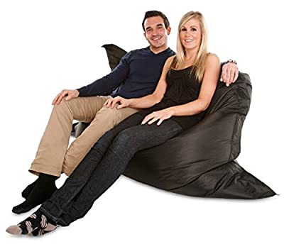 Extra Large Giant Beanbag in Black - XXXL 180x140cm - Next Working Day Delivery - Indoor & Outdoor Large Waterproof Bean Bag