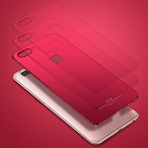 vivo X20 Hülle, MSVII® Sehr Dünn Hülle Schutzhülle Case Und Displayschutzfolie für vivo X20 - Gold JY00353 Rot