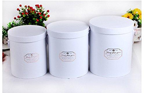 Jdcmyk 3pcs/lot Bonne qualité Fleurs Boîte Boîte ronde, boîtes en carton d'emballage cadeau, 2017Hot vendre Cadeau Box. Six Couleur choisir.