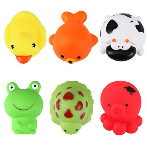de feuilles 6 Set Badespielzeugsammler Baby Kleine Badefreunde Wasserspiel für Kinder hochwertiges Kleinkindspielzeug Spielzeug für die Badewanne (onesize, mehrfarbig)