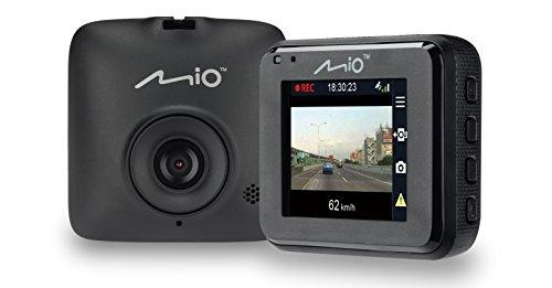 Mio Mivue C320 Dash Cam Drive Recorder Registratore Personale per la Guida, Full HD 1080P, Grandangolo 130°, Obiettivo F2.0, G-Sensore a 3 Assi, Slot per microSD, Nero