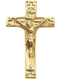 14ct Yellow Gold Crucifix Lapel Pin 20x12mm
