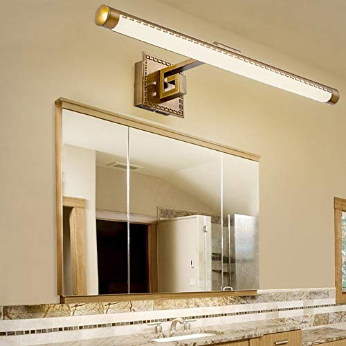 OYY Modern Mirror Mirror Bath- Lamps Led Light Before Modern/Integrated Contemporary for Electroplating Countries Included Led Bulb Warm White Light -Mirror of Headlights,54,5 cm - 11 W, -