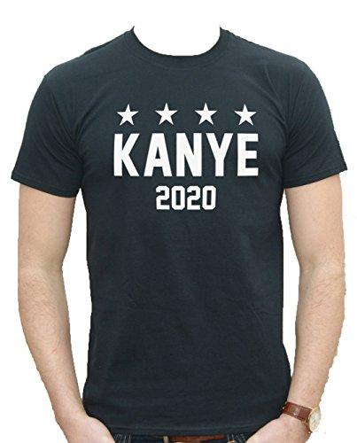 New Unisex Kanye 2020West T-Shirt Top für Präsident USA Amerika Geschenk Funny Slogan Fashion Gr. Small, schwarz