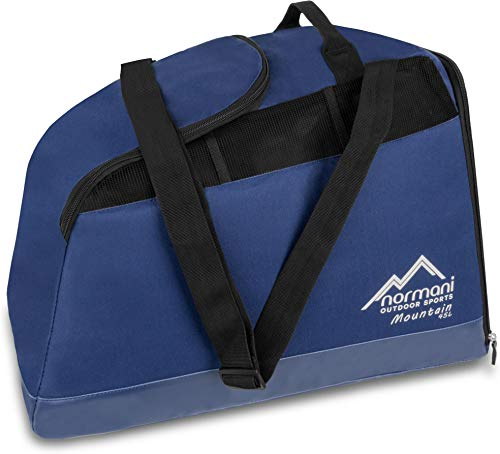 normani Outdoor Sports Skischuhtasche mit separatem Helmfach und Schuhfach - wasserdichter 45 Liter Alpine Mountain Boden Farbe Navy