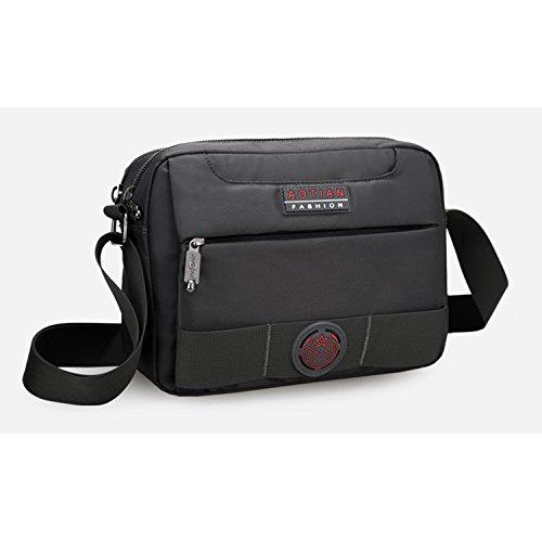 Outreo Schultertasche Herren Messenger Bag Vintage Umhängetasche Retro Kuriertasche Sport Taschen Schule Herrentaschen für Tablet Grau
