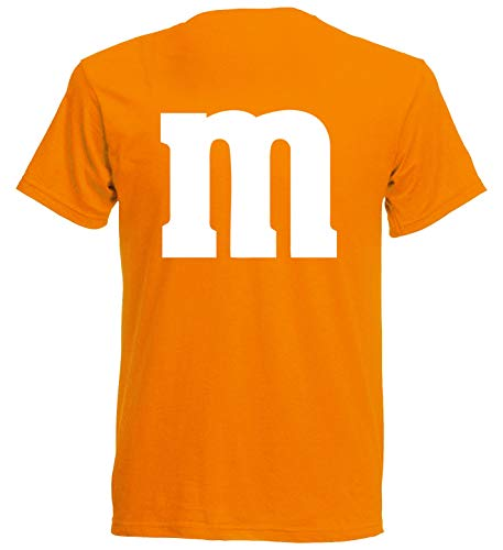 aprom T-Shirt Karneval M M Kostüm Gruppenkostüm Fasching JGA Party MM (2XL, Orange)