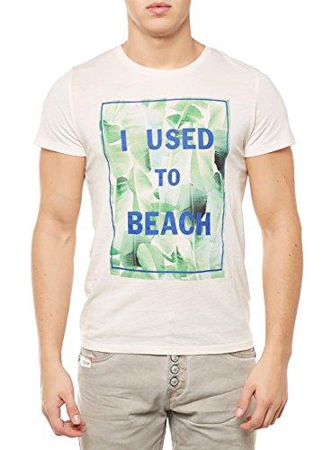 Scotch & Soda Beach Artwork Tee Beige