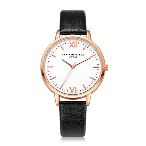 Fortan Damen Temperament Silber Zifferblatt Leder Gürtel Uhr-BK