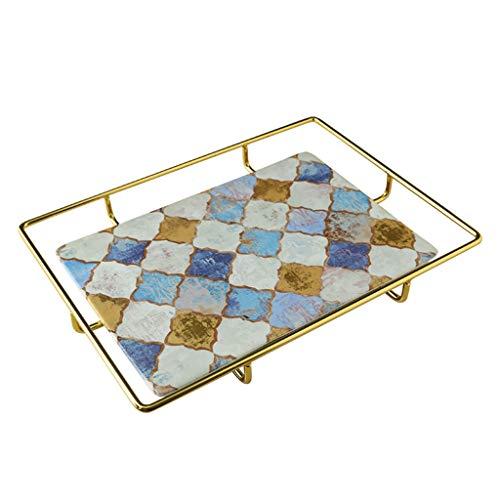 YJWOZ Keramik Ablageschale, Obstschale Tisch, Schmuck Aufbewahrungsbox Tablett (Color : A)