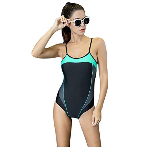 Mufly Mujer Bikini atractiva Moda Sin espalda Traje de baño de una pieza Bikini Triángulo Bañadores Deportivos Talla Grande Gris XXL