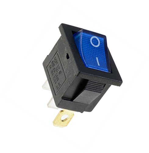 Interesting 1PCS On / Off Rectangle Rocker Switch Auto-Schlag-Boot + wasserdichte Abdeckung - blaues Licht EIN / AUS