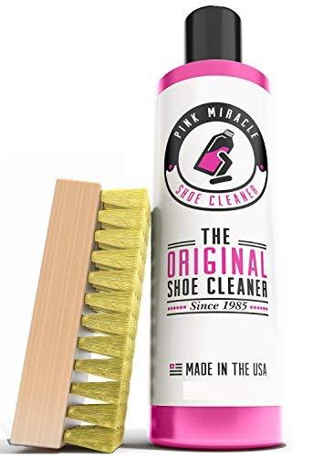 Pink Miracle - Schuhe Reiniger - Stoffreiniger mit Bürste - arbeitet an Leder, Weiße, Stiefel