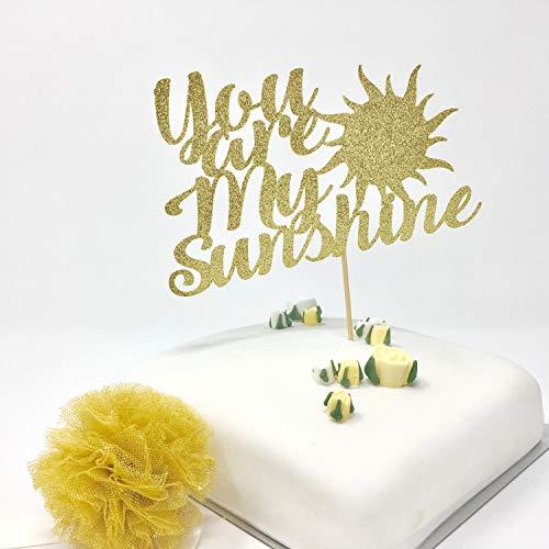 You Are My Sunshine Cake Topper. Valentine'S Day Decor. Romantic Party Ideas. Glitter Cardstock Topper