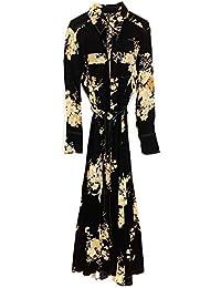 46ba899ea4 MASSIMO DUTTI Women s Topstitched Floral Print Dress 6603 806