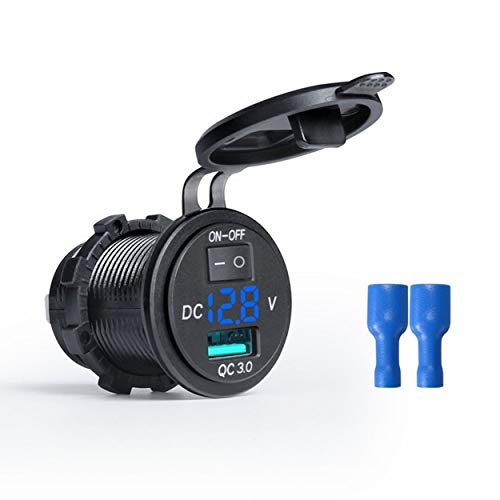 Lorenlli 9 V 12 V 18 Watt Auto Ladegerät Ladebuchse QC3.0 USB Port LED Volt Display für Telefon Tablet Navigator Schnellladeadapter - Telefon-ports