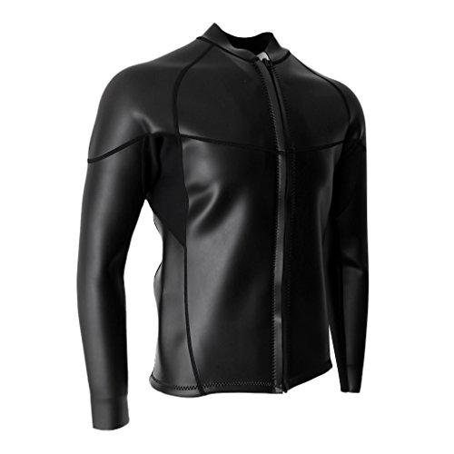 MagiDeal Männer 2mm Neopren Herren Langarm Neoprenanzug Jacke Sonnenschutz Anti-UV Jacke für Tauchen Surfen Schwimmen Shirt - XXXL