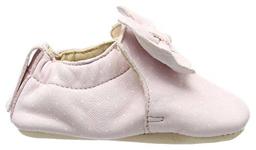 Easy Peasy Baby Mädchen Blumoo Noeud Krabbelschuhe Pink (rose pale/plumetis blanc)