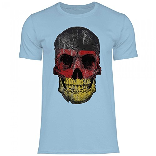 7a8540eb9556 Royal Shirt df14 Men s T-Shirt Germany Germany Flag   WM Em Soccer Skull  Jersey