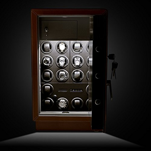 Safewinder® 18 DELUXE TAN Uhrenbeweger & Safe - 2