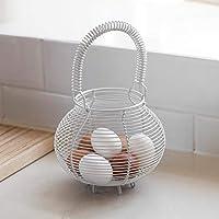 Tutti Decor Wire Handled Egg Basket in Chalk Finish by Garden Trading 28 x 17cm