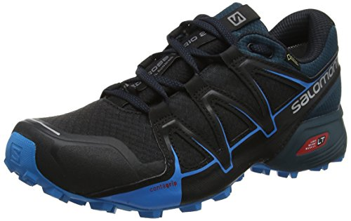 Salomon Speedcross Vario 2 Gtx® Scarpe da Trail Running Uomo, Nero (Black/Blue Reflecting Pond/Hawaiian Surf), 42 EU