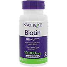 Natrol Biotin (10,000mcg) Maximum Strength 100 tabs by NATROL