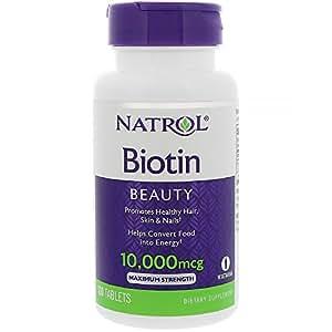 Natrol Biotin 10000 mcg Maximum Strength - 100 Tablets