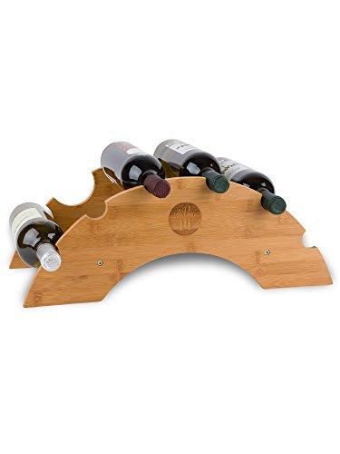 PreVino Weinregal Holz für 6 Flaschen Wein zur Lagerung von Weinflaschen 51x23,7x19cm Flaschenregal...