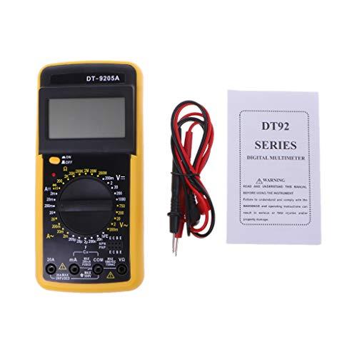 BIlinli Digital DT-9205A Multimeter-LCD-AC/DC-Amperemeter-Widerstand-Kapazitätsprüfer